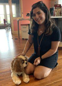 lindsay silverman, intern, pet friendly office, RLF Communications
